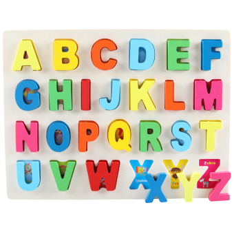 Harga Digital letter puzzle boy toy baby 1-2 year old wooden children's girl educational 3-6-Year-Old Building Blocks