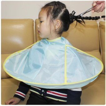 Built-in receiver tank cartoon printing children hairdressing apron children a haircut baby clothes wai cloth waterproof gown - intl
