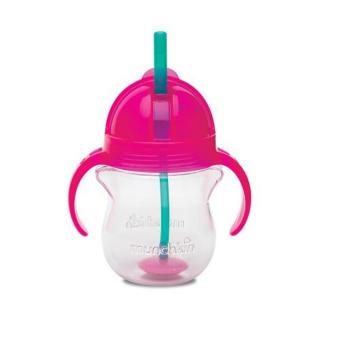 Munchkin Click Lock Weighted Flexi Straw Cup 7oz, Pink
