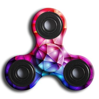 Fidget Hand Spinner Finger EDC ADHD Autism Focus Stress Reliever Toys D Multicolor - intl
