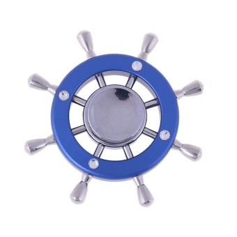 Harga Expert Captain Rudder King of Pirates Fingertip Gyro Fidget Hand Spinner(Blue) - intl