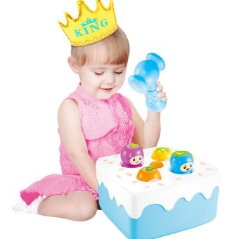 Harga Sound and light children tuba music beating game machine percussion fruit worm baby educational toys early childhood years old 2 years old