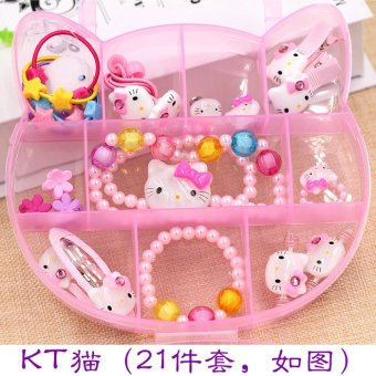 Harga Children's hair accessories baby hair tousheng hairpin combination gift box set girls necklace little girl birthday gift