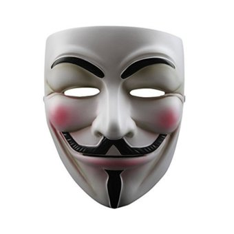 Harga Halloween Fancy Cosplay Costume Guy Fawkes V FOR Vendetta Anonymous Adult Kids Valentine Ball Party Mask