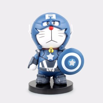Harga The anime COS Captain America Thor iron man Doraemon Viking jingle cat toys - intl