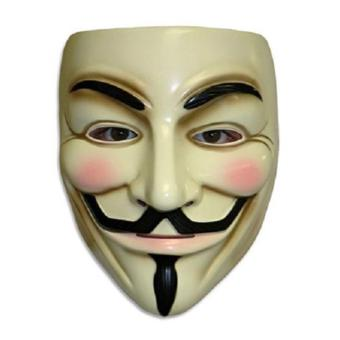Harga Guy Fawkes Maske for Vendetta Mask Occupy Anonymous Cosplay Karneva (Yellow)