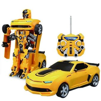 Harga Mini Remote Control Car Deformation Toys Infinite RC Robot RC Deformation RC Car (Orange) (EXPORT)