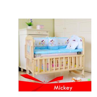 Harga Pine Wood Baby Bed