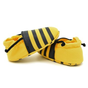Harga Infant Soft Bees Printing Shoes (Yellow) - Intl