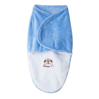 Harga Baby Infant Swaddle Monolayer Plus Velvet (Blue)