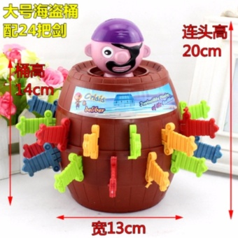 Harga Running Man Pop Up Pirate Lord Barrel Roulette Game Party(L size) - intl