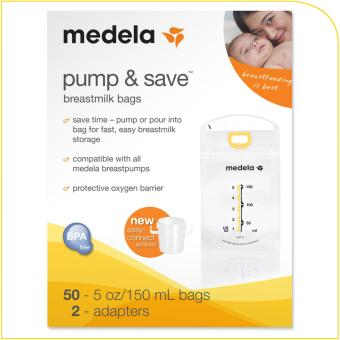 Harga Medela Pump & Save Bags 50pcs