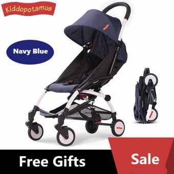 Kiddopotamus® Cabin size Ultra Lightweight one hand fold baby stroller - Carriage Infant Travel Flight yoyo/yoya/Quinny/Maclaren/Recliner/Capella/Combi/Maxi/Cosi/Buggy/Bugaboo/Mothercare/Mamalove/Joovy/Goodbaby/Micralite/Jogger styled