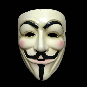 Harga Halloween Cosplay V For Vendetta Mask Guy Fawkes Anonymous Fancydress Costume - intl