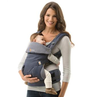 Harga Ergobaby Baby Korea Style Carrier Top Baby Sling Hipseat four style 360 baby baby sling cotton multifunction baby carrier air section- Grey blue - intl