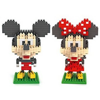 Harga Mickey and Minnie - LOZ Nanoblock Disney Mickey Collection Pack of 2