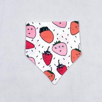 Harga Infants Cartoon Cotton Scarf Towel - Strawberry Pattern - intl