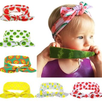 Harga Baby lily Bear Fashion 6pcs Baby Girls Colorful Headbands Head Wrap Knotted Hair Band - intl