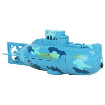 Harga LoveSport Mini Micro RC R/C Radio Remote Control Sub Boat Submarine Toy (Blue)