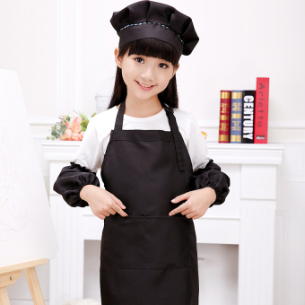 Harga Gracefulvara Cute Children Kids Plain Apron Kitchen Cooking Baking Cooking Craft Art Bib - Black