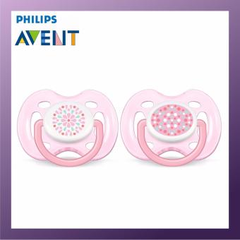 PHILIPS AVENT Freeflow Soother-0-6M Twin Pack Pink
