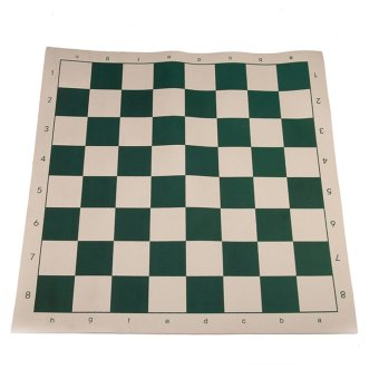 Andux Chess Board Tournament Chess Set-Standard Vinyl Roll-up Forest XQQP-01 Green