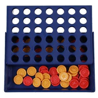 LALANG Kids Connect Four Bingo Chess Board Game Educational Intellectual Toy (Blue)