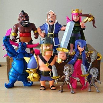 Harga COC Clash Of Clans figures 8X PVC toys Witches King Pekka Archer Queen model Figura Figure Xmas hog rider Gift with opp bag ED - intl