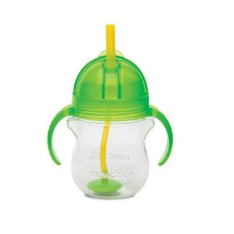 Munchkin Click Lock Weighted Flexi Straw Cup 7oz, Green