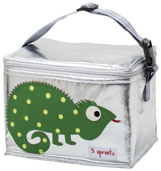 New 3 Sprouts Insulated Lunch Bag - Iguana