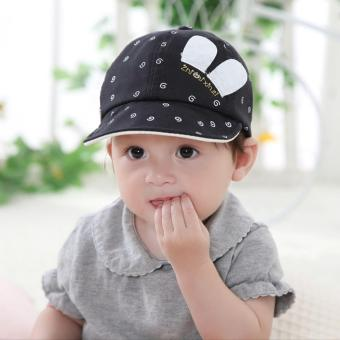 Harga Baby Boy Girl Infant Newborn Lovely Smile Face Cute Hats Spring Cotton Caps - intl