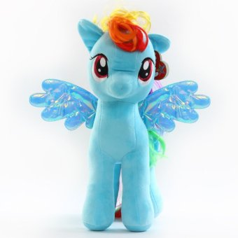 My Little Pony pony Baoli rainbow plush toy doll(blue) - intl