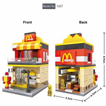 Harga Loz 1607 Street Mini Blocks Fast Food Chain Store Street Shop Diamond Nano Bricks Building Micro Blocks Creative Gift Collectibles for All Ages