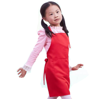 Harga BolehDeals Cute Waterproof Kids Apron Children Cooking Baking Painting Apron Red