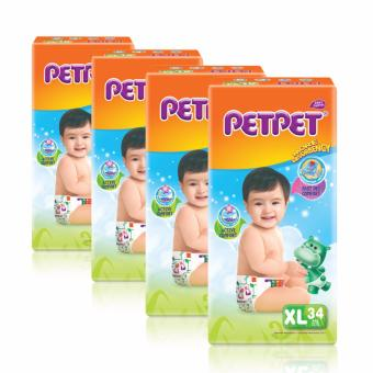 PetPet Tape Diaper XL 34pcs x 4packs