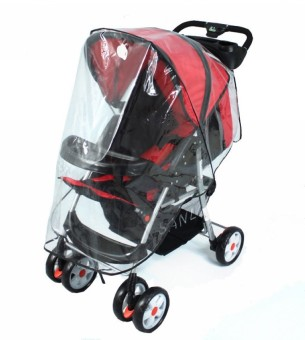 Harga Universal Waterproof Rain Cover Wind Shield Fit Most Strollers Pushchairs