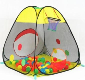Harga YBC Children Portable Shoot Ball Play Tent + 50pcs Ocean Balls - intl