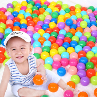 Harga PX40 50pcs Colorful Soft Plastic Toy Balls Play Pit balls Water Pool Ocean Wave Balls