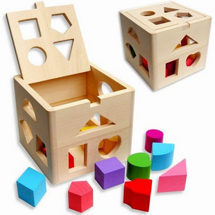 Harga Baby educational toys for children thirteen hole intelligence box shape matching blocks shape aged years old
