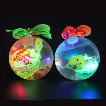 Harga Soft Rubber LED Jumping Ball Bouncy Bouncing Light Balls Kids Toy Party Gifts