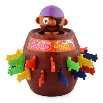 Harga LT365 Popping-up Pirate Doll Toy Barrel Piggy Bank