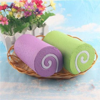 Harga Squishy PU Simulation Slow Rebound Large Swiss Roll Decompression Toys - intl
