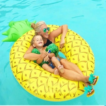 Harga Fengsheng Giant Pineapple Inflatable Pool Float Swim Ring for Water Fun Lounge Toy,Summer Water Bed Giant Summer Gifts - intl