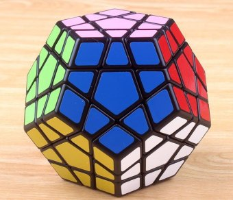 Allwin Shengshou Megaminx Dodecahedron Magic Cube Brain Teaser (Black) - intl