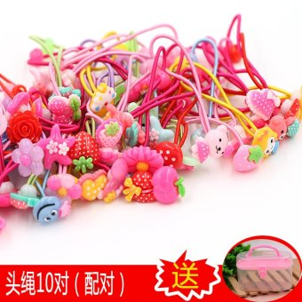 Harga Korean children hair accessories girl hairpin baby hair tie hair ring tousheng rubber band cute girls head flower clip jewelry