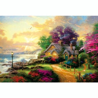 Asuwish Wooden puzzle 1000 piece Fairy tale lodge 900g 750*500*2.3mm - intl