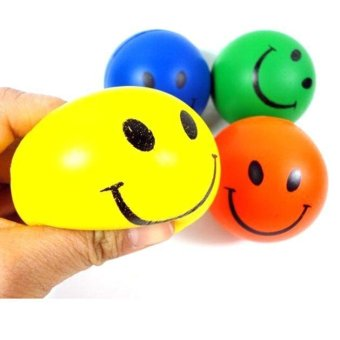 Harga coconie 1 PC Mini Neon Smile Face Relaxable Balls - intl