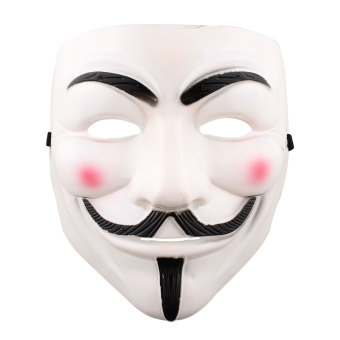 Harga Vendetta Halloween Cosplay Fancy Dressing V Mask Costumes Fawkes Anonymous - intl