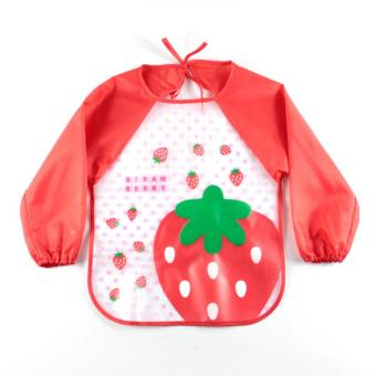 Harga Waterproof Long Sleeve Feeding Baby Bibs Infants Art Smock Apron Clothing Baby Apron - intl