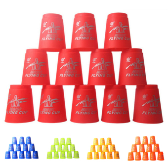 Harga 12pcs Speed Stacks Sport Flying Stacking Rapid Luminous Cups Christmas Gift